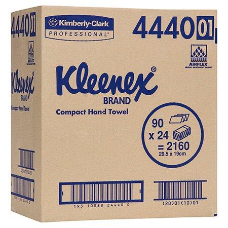 KLEENEX COMPACT HAND TOWEL 29.5CM X 19CM, 90 X 24