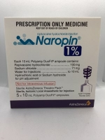 NAROPIN 1% INJECTION POLYAMP 5 X 10ML (3243) (S4)