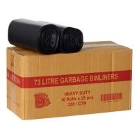 BIN LINER BLACK 73L, 250