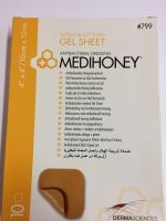 MEDIHONEY GEL SHEET 10CM X 10CM, 10