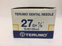 TERUMO DENTAL NEEDLES 27G 7/8, SHORT