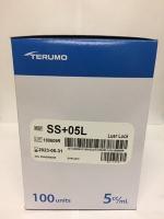 TERUMO SYRINGE 5ML LUER LOCK TIP, 100