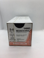 MONOCRYL* SUTURE UNDYED 5/0 P-1 11MM 3/8C 45CM, 12