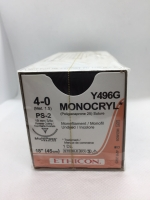 MONOCRYL* SUTURE UNDYED 4/0 PS-2 19MM 3/8C 45CM, 12