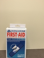 FIRST AID BLUE DETECTABLE ADHESIVE STRIPS, 100
