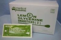 LEMON GLYCERINE SWABSTICKS 3'S, 50