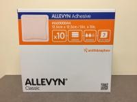 ALLEVYN ADHESIVE DRESSING 12.5CM X 12.5CM, 10