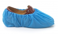 DISPOSABLE BLUE OVERSHOES POLYETHYLENE, 2000
